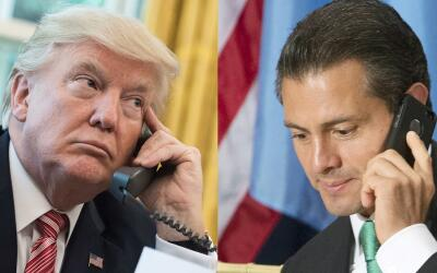 Donald Trump and Enrique Peña Nieto, two unpopular presidents.