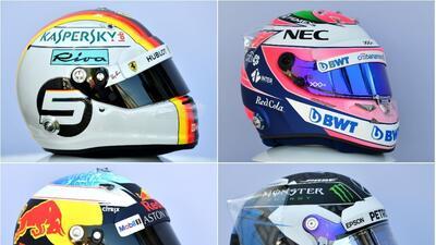 El de 'Checo' Pérez y los demás lujosos cascos de la nueva temporada de la F1