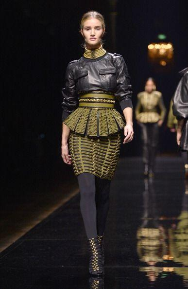 Entre lo mejor del Fashion Week de Paris estuvo Balmain. Olivier Roustei...