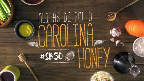 Alitas de pollo Carolina Honey #SB50 - El Recetario