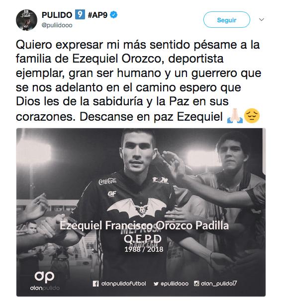 Condolencias tras muerte de Ezequiel 'Cheque' Orozco en redes sociales c...