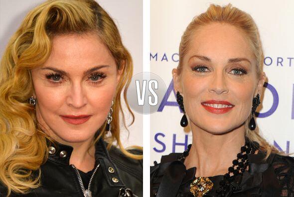 Duelo de divas. Madonna y Sharon Stone se encuentran en los 55 añotes, ¿...