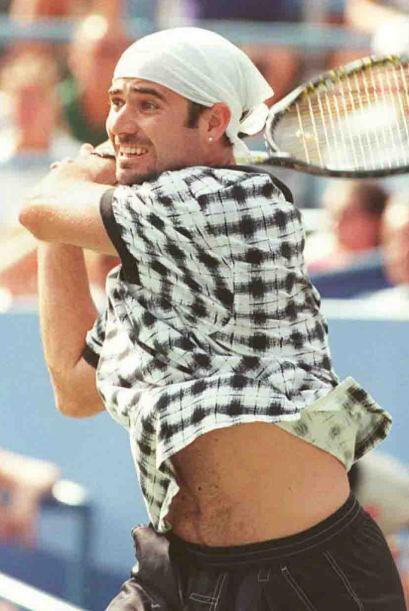 El estilo irreverente  Andre Agassi marcó un estilo diferente en las can...
