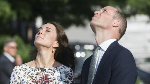 El príncipe William y su esposa, Kate Middleton, comenzaron el pa...
