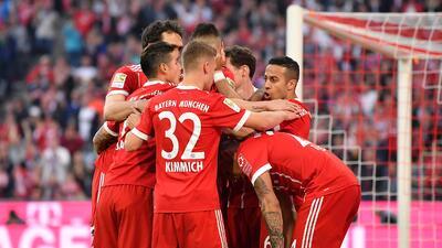 En fotos: Bayern estrenó su título de Bundesliga paseando al Borussia M'Gladbach