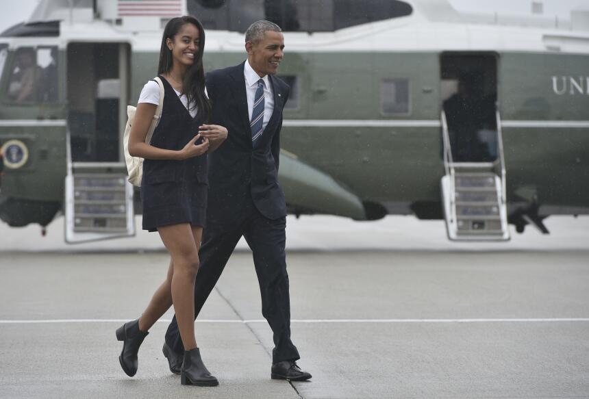 Malia Obama creció dándonos lecciones básicas de moda  GettyImages-51984...