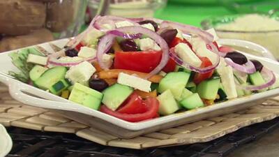 Receta de ensalada griega al estilo del chef Pepín en Despierta América