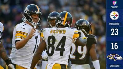 Los Steelers suman su cuarta victoria seguida a costa de unos desabridos Ravens