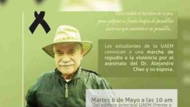 Foto de la convocatoria por la marcha en repudio al crimen del profesor...