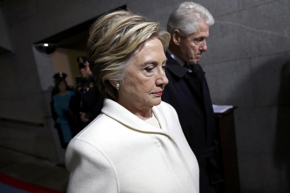 Primer plano de Hillary Clinton, la candidata demócrata en las pasadas e...