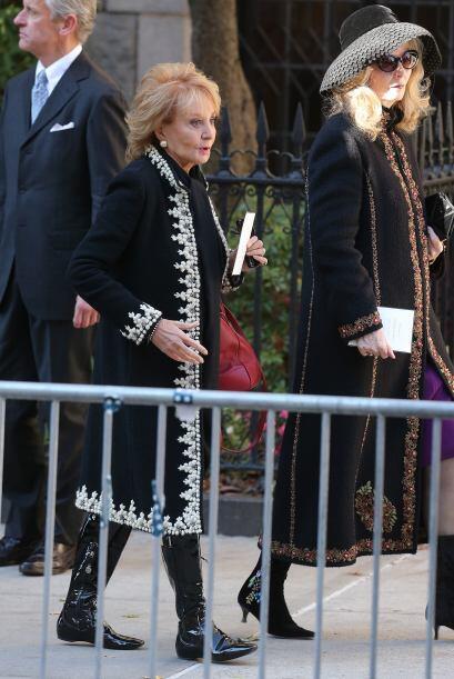 La periodista Barbara Walters también estuvo presente.
