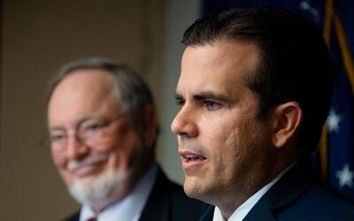 El gobernador de Puerto Rico, Ricardo Rosselló, en la presentaci&...