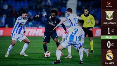 Un 'flojo' Real Madrid no puede con el Leganés pero avanza en la Copa del Rey