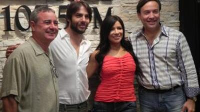 De izquierda a derecha Osvaldo Vega, Joaquín Cortés, Paula Arcila y Javi...