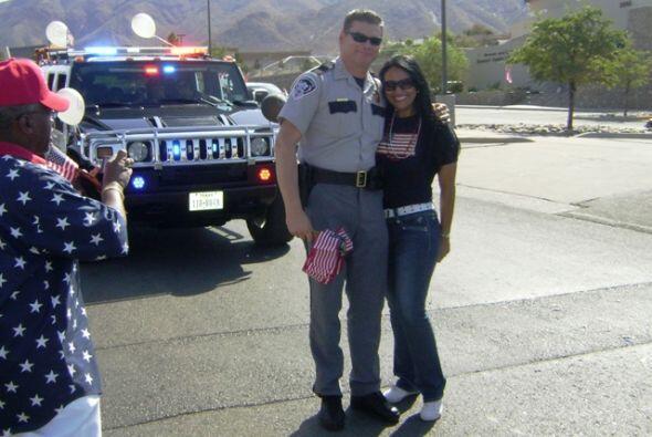 El departamento del Sheriff también se hizo presente en el desfile ¡y al...