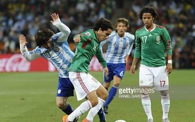 Sudáfrica 2010 México vs. Argentina, Messi, Gio, Efra&iacu...