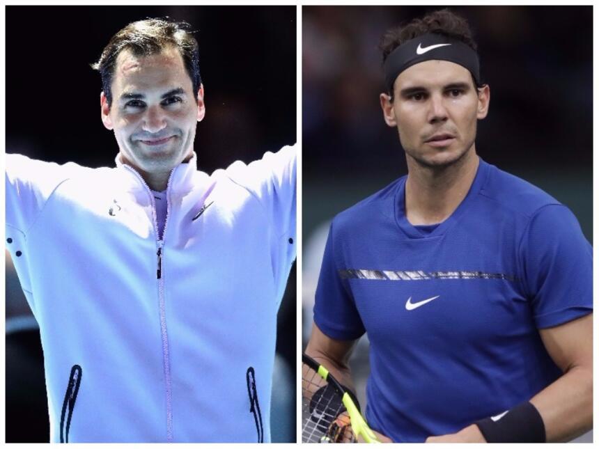 Roger Federer y Rafael Nadal lideran los grupos del ATP World Tour Final...