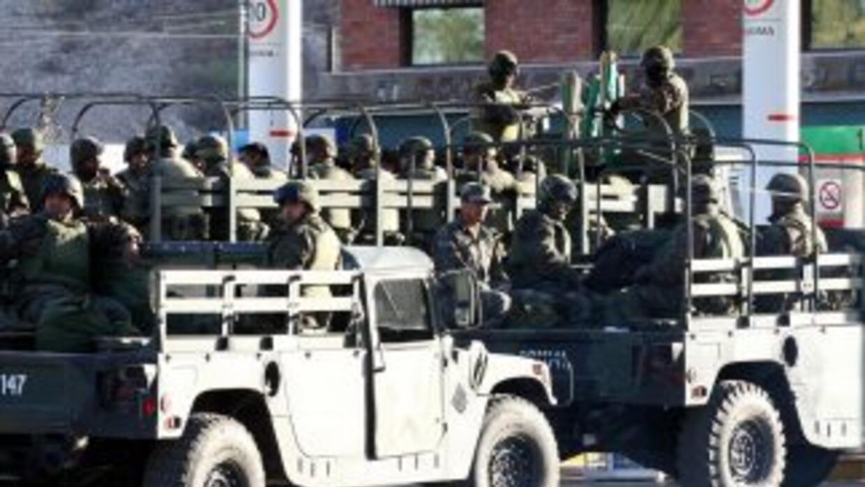 El ejército mexicano reforzó la seguridad en el penal de Tamaulipas dond...