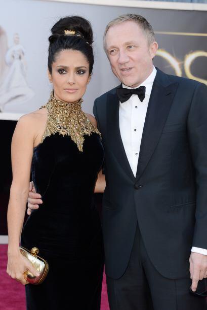 La mexicana Salma Hayek llegó al Oscar como solo ella sabe hacerlo, ¡des...