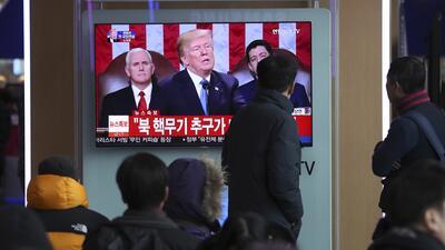 En fotos: Así se vio el primer discurso del Estado de La Unión de Donald Trump alrededor del país (y el mundo)