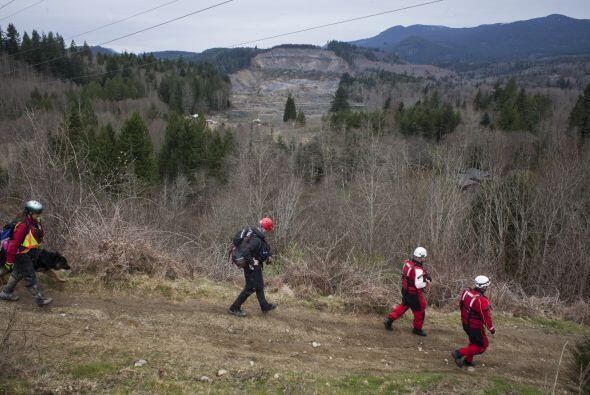 Los equipos de rescate continúan analizando el peligro del terreno.