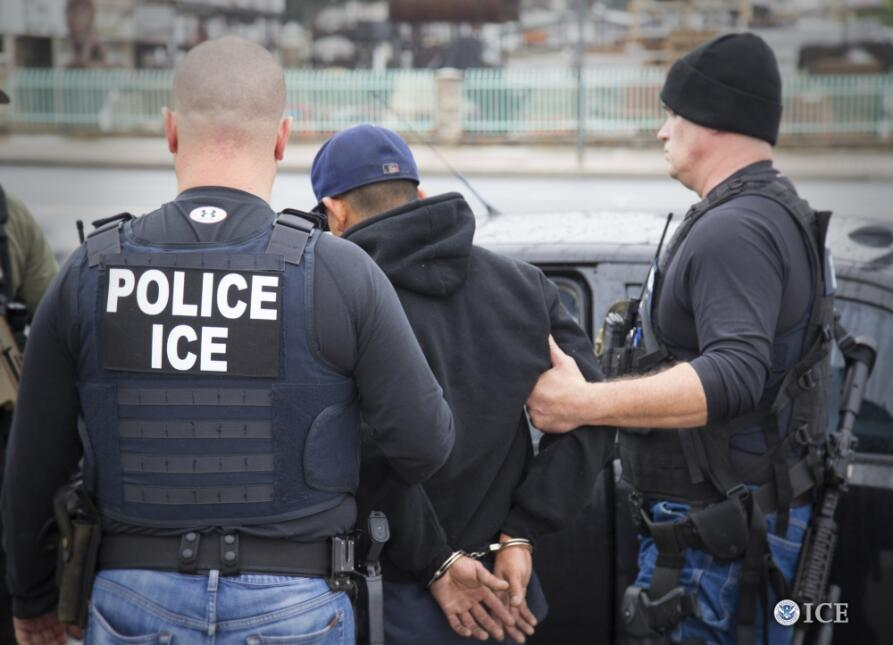 Operativo de inmigración realizado en febrero de 2017 en Los Ángeles.