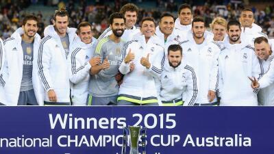 Real Madrid celebra con el Internation Champions Cup