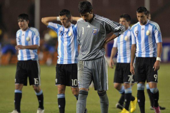 Así se retiró el seleccionado Sub 20 de Argentina al término del partido...