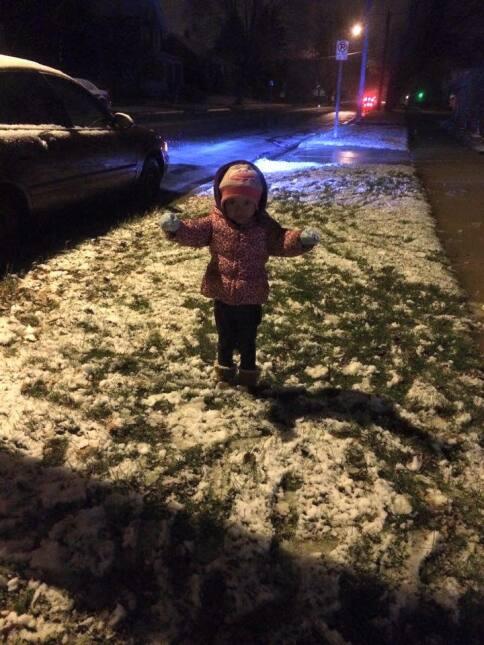 Usuarios comparten fotos de la primera tormenta invernal de la temporada...