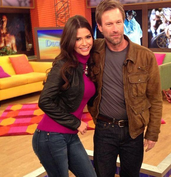 """""""Con #AaronEckahart en @DespiertaAmericaTv #Frankenstein"""", compartió Ana..."""