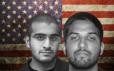 Omar Mateen (izq) mató a 49 personas en Orlando, Florida, y Syed...