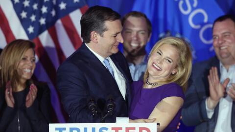 El candidato republicano Ted Cruz venció en las primarias de Wisc...