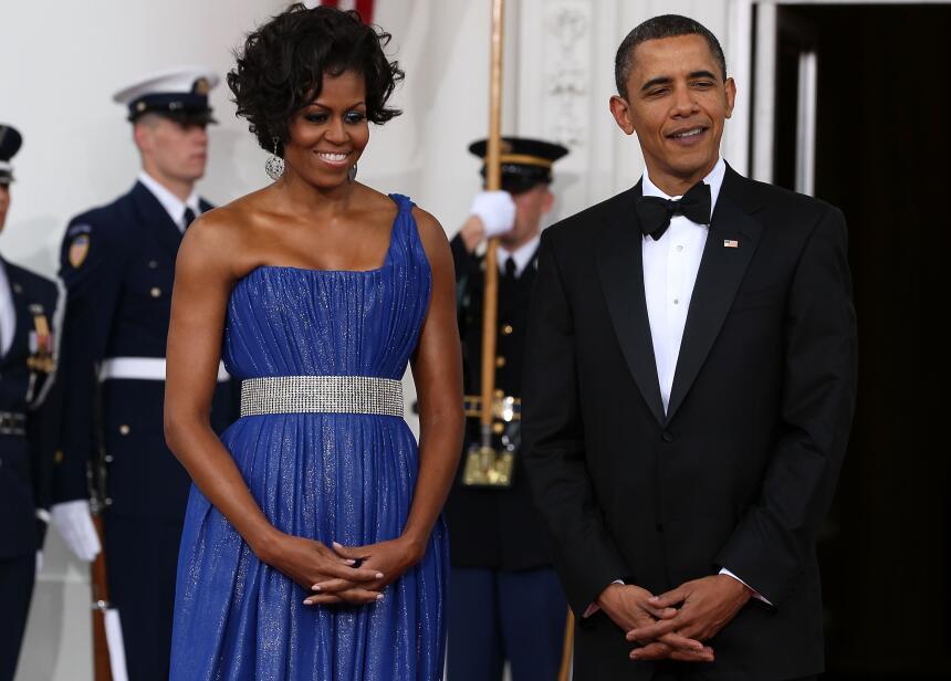 Trece vestidos de Michelle Obama para trece cenas de Estado GettyImages-...