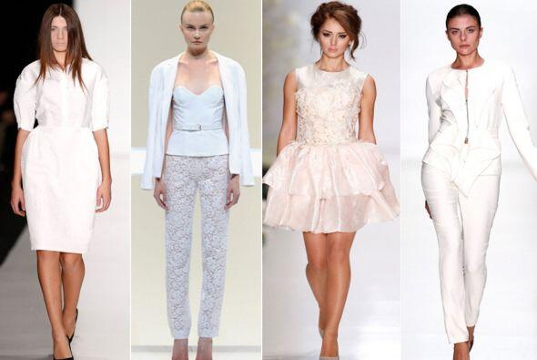 Celebridades y famosos visten de blanco para deslumbrar con esta tendenc...