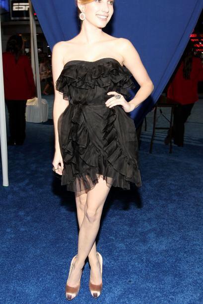 Emma Roberts se fue a lo seguro con un perfecto vestido de Dior little b...