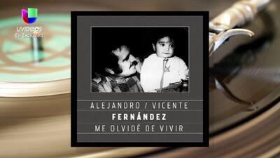 Alejandro Fernández lanza su tema 'Me Olvidé de Vivir', al lado de Vicen...
