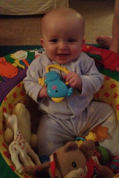 Después, con sólo ocho meses de edad , el bebé Jacob resultó ser el dona...