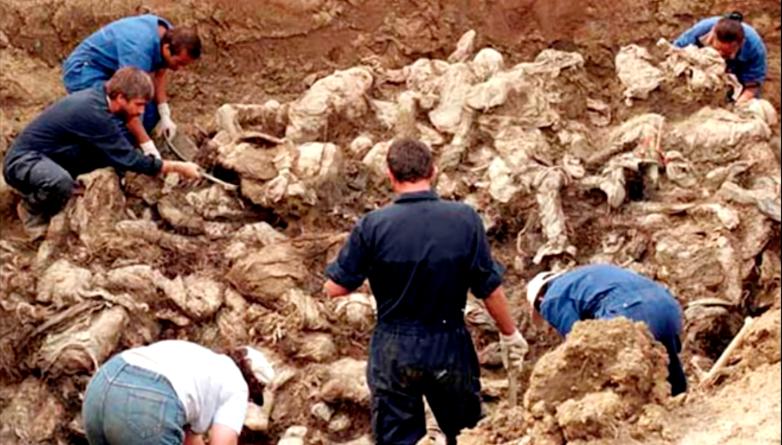 Este fue el primer gran hallazgo de los cuerpos, realizado por la Brigad...