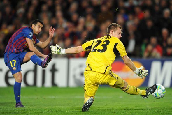 El Barcelona es el tercer club en la historia del Champions en marcar 9...