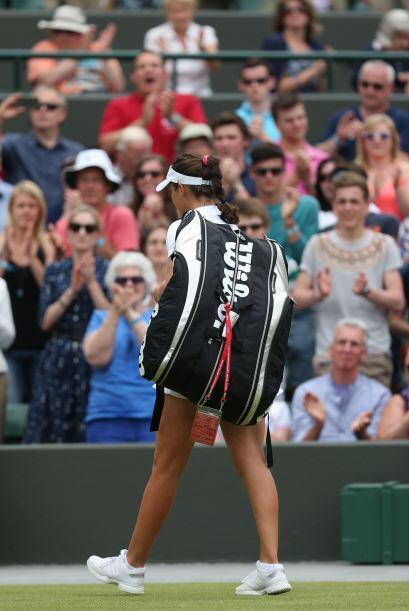 Los ingleses perdieron a su favorita en la rama femenil, Laura Robson.