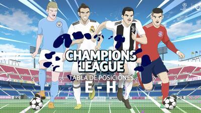 Así quedó la tabla de posiciones de los Grupos E, F, G y H en la UEFA Champions League