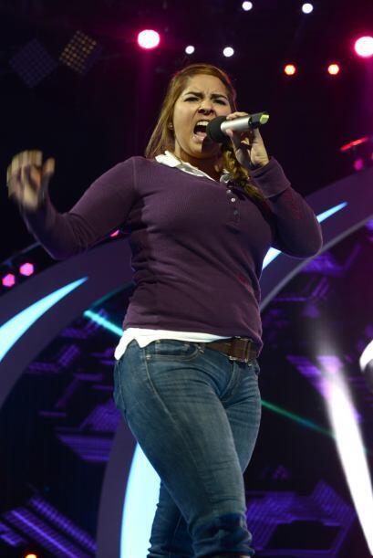 Vivian Mitre durante los ensayos del estreno.