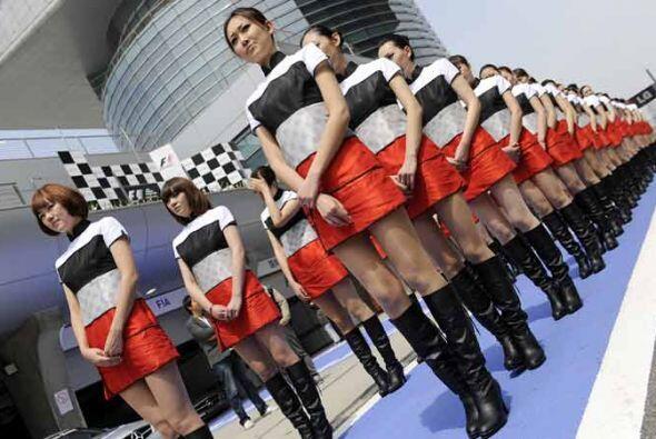 China presentó lo mejor de su imagen para el Gran Premio de Fórmula 1.