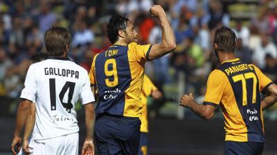 Luca Toni se hizo presente en el marcador.