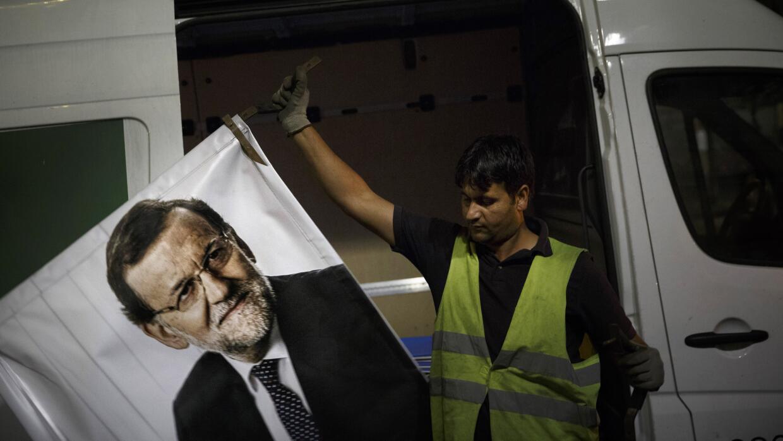 Retirando propaganda electoral en España