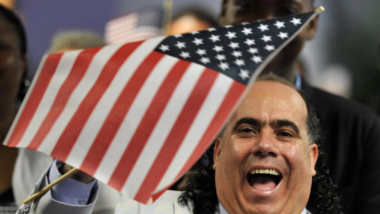 Ceremonia de juramento de nuevos ciudadanos estadounidenses.