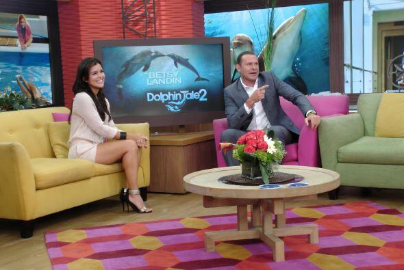 También nos acompañó la actriz puertorriqueña, Betsy Landín, para promoc...