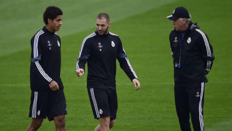El técnico del Real Madrid piensa que el zaguero francés y Nacho están l...