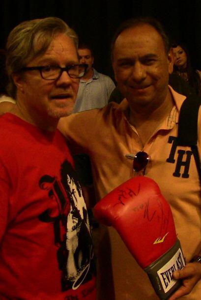 La ceremonia de pesaje fue cubierta por Fernando Rubio, locutor de 97.5...