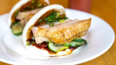 Buns de pork belly, restaurante Momofuku